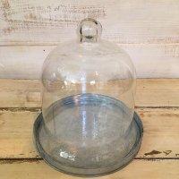 GC ブリキグレイ ガラスフードカバー&トレイS