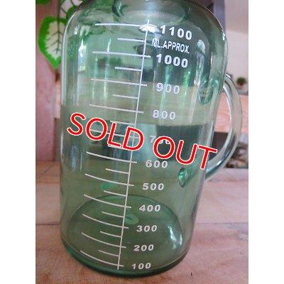 画像2: アンティークグリーン ガラスボトルM