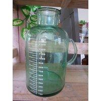 アンティークグリーン ガラスボトルL