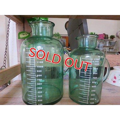 画像5: アンティークグリーン ガラスボトルM