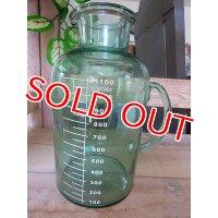 アンティークグリーン ガラスボトルM