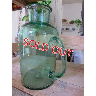 画像3: アンティークグリーン ガラスボトルM