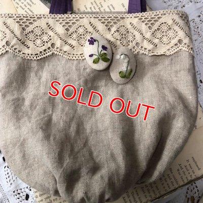 画像5: 飯塚礼子さんWS9/22(土) スミレ&スズラン刺繍ブローチ付きリバーシブルバッグ